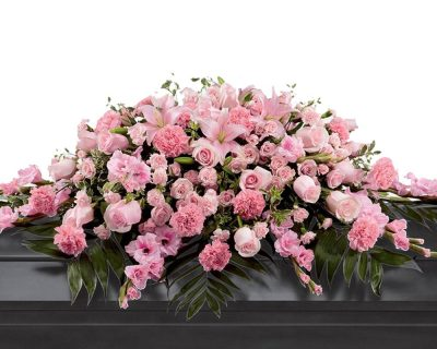 Pale Pink Double Ended Casket Spray