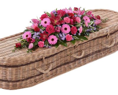 Pink Double Ended Casket Spray