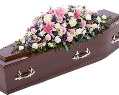 Pink & Purple Double Ended Casket Spray