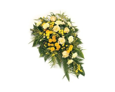 Yellow Singled Ended Casket Spray
